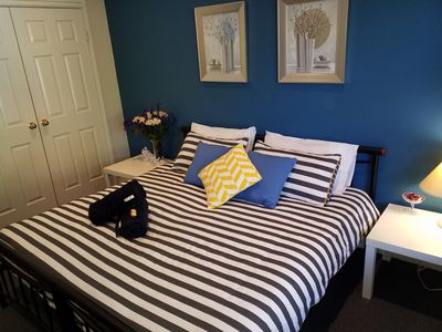 King size bed with wardrobe