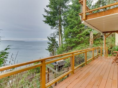 Photo for NEW LISTING! NEW LISTING! Coastal home w/oceanview, beachfront, outdoor dining
