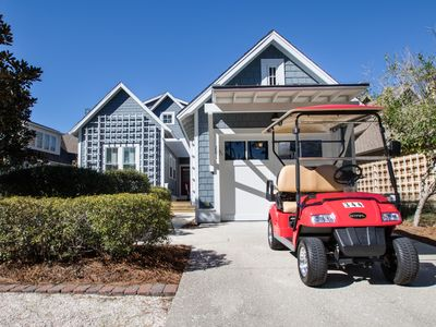 Photo for Executive Access Home! Golf Cart! 300 Yds to the Beach! Screened Porch!