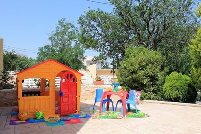Children's toys are available outdoors!