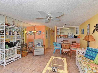 Photo for Oceanview condo w/ shared pool & furnished balcony - across street from beach