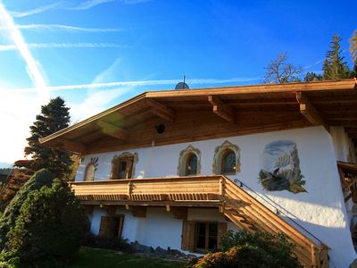 Photo for Beautiful chalet in Tyrolean style, high near Zillertalbahn, pets welcome