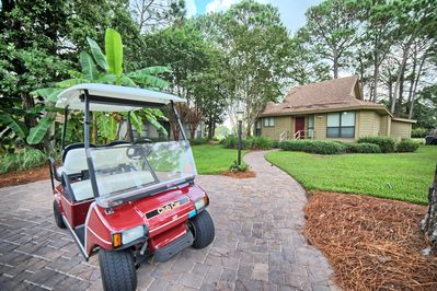 Golf Cart included with Rental, Damage Deposit and CC will be taken