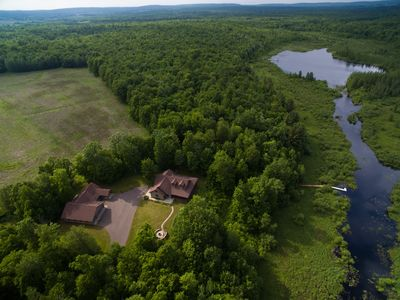 Photo for Premium Home On 600+ Private Wooded Acres W Private Lake Access On Scenic Hill
