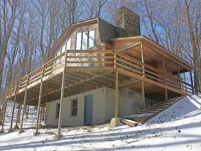 Photo for Spacious cabin-style home w/wood-burning fireplace, close to everything!