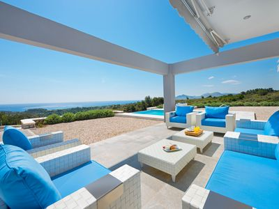 Photo for Luxury Modern Villa with Sea View only 7minutes drive from Faliraki city center!