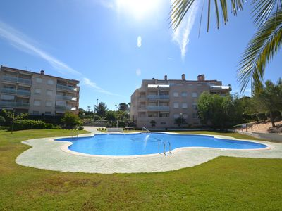 Photo for Opis II: Private garden,Wifi,AC & parking included-3 bedrooms, swimming pool, 500m beach La Pineda