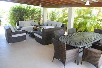 Shady Patio for Dining and Relaxing