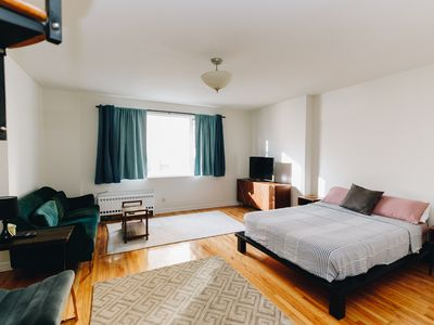 Photo for Midtown/Hells Kitchen: Spacious studio with office area and outdoor deck
