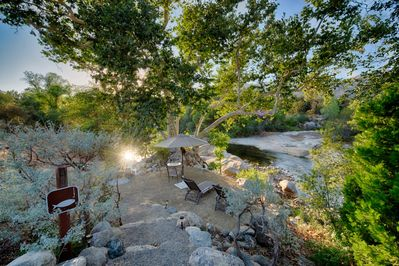 A short walk down the driveway will take you to our breathtaking river access.