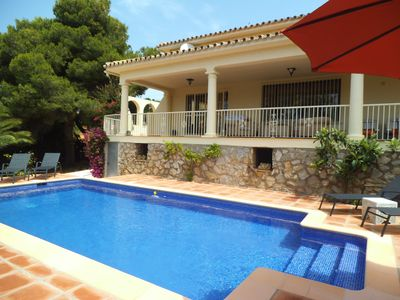 Photo for WALKING DISTANCE TO CABOPINO BEACH & MARINA BEAUTIFUL VILLA PRIVATE GDN & POOL