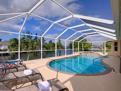 Photo for gulf access, pool and hot tub, 4 bedrooms. 2 baths  great for a vacation with 2 families