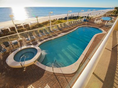 Photo for JULY & AUGUST: Large Oceanfront Condo, Awesome View, Huge Balcony, 2nd Floor!