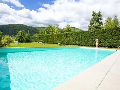 Photo for Country villa in Garfagnana with pool, free wifi internet, 25 acres exclusive property all around