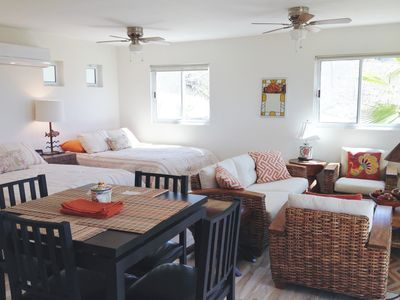 Photo for Casita w/ocean views,2 Queen beds,sitting area,patio.HEATED salt water Pool!