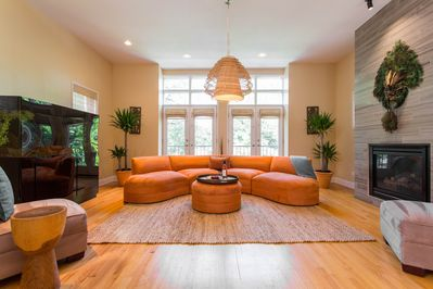 Inviting conversation area.  Perfect for gathering.