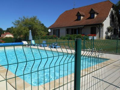 Photo for Comfortable villa near Alvignac with private swimming pool and stunning view