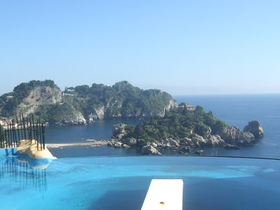 Photo for Stunning Taormina location: Villa in Isola Bella bay with direct access to beach