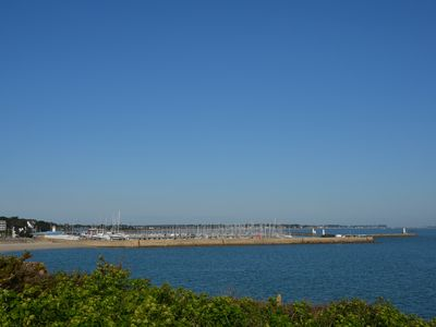 Photo for Apartment 42 sqm (ground floor) facing the sea, the bay of Quiberon 56170