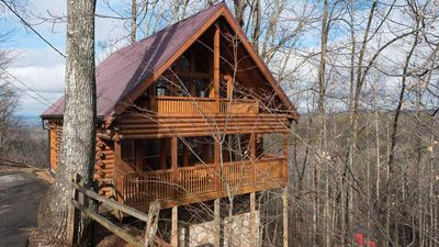 Photo for Bear in the Trees in Pigeon Forge #unforgettable 1BR w/ Gameroom, Heart Tub & more!