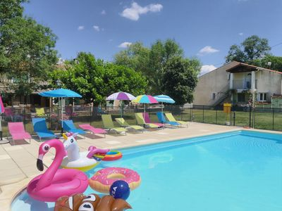 Photo for Family cottage caussanel between Castelnaudary and Carcassonne with heated pool