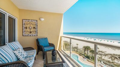 Photo for Gulf Front 4th Fl 2bed/2ba condo on Pensacola Beach. Free WiFi. Pool.Unit 406