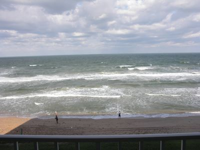 Photo for Gorgeous Oceanfront Condominium in Exclusive Building on No-Drive Beach