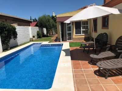Photo for Lovely  3 bed villa in a residential area,  close to beach and amenities.