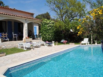 Photo for Holiday home with private pool near the Estérel mountains and 17 km from the Sea