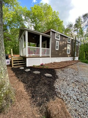 Photo for Tiny house,10 wooded acres & family lake! Canoe and Paddle board!