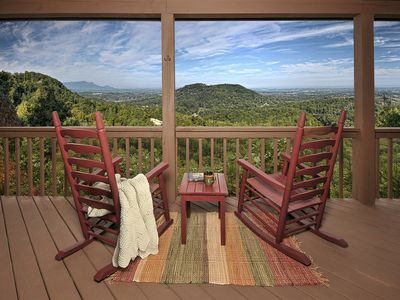 "Photo for ""Imagine"" this romantic cabin and View"