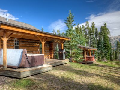 Photo for Quaint Log Cabin, Perfect For Vacation Adventures! Ski Access, Hot Tub, Private!