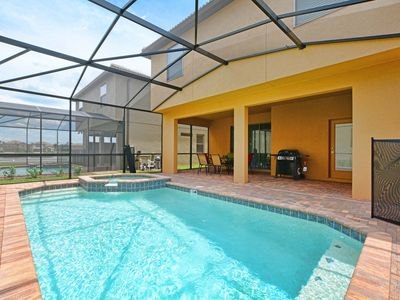 Photo for BRAND NEW UNIT AND RESORT!! GAMEROOM, BBQ GRILL, JACUZZI, 2 MASTER SUITES!