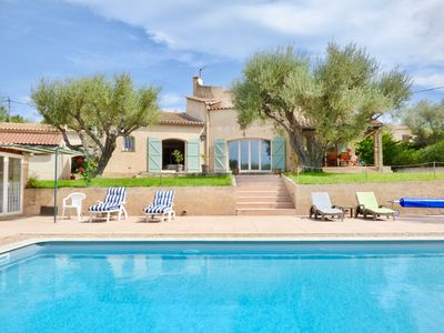 Photo for VILLA LES ANEMONES, private pool, private garden and parking, Wi-Fi, air-conditioned