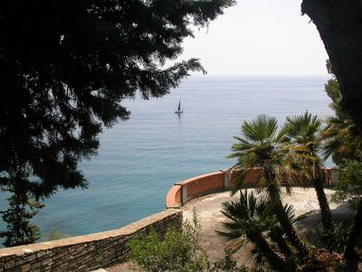 Photo for Casa Luce - spectacular sea view surrounded by palm trees, pines, cypresses, olive trees