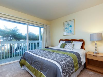 Photo for Lower-level, dog-friendly studio with ocean views - walk to the beach!