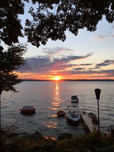 Photo for Breathtaking Sunsets from  Lake House on Sebago Lake In Windham, Maine