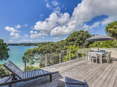 Photo for Absolute Beachfront Oneroa Bay - Quality 3 Bedroom Beachfront Home