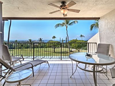 Photo for Kailua Condo on Golf Course - Balcony w/Ocean View