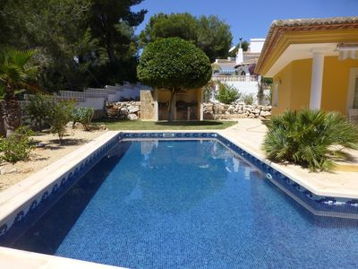 Photo for Luxury villa in Moraira with large pool and American fridge