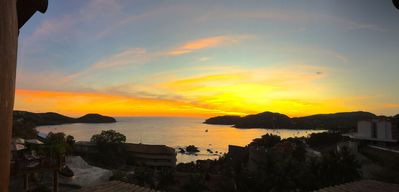 The stunning, ever changing colors of the sunset from our Casa.