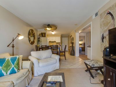 Photo for Comfortable villa one row away from the beach w/shared pool & grills!