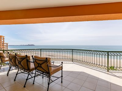 Photo for Sonoran Sea West 707 - 2 Bedroom Upper Floor Ocean Front