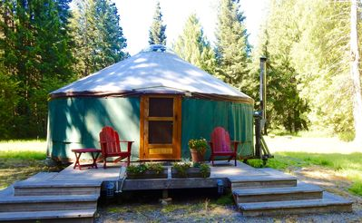 Photo for Glamp in our beautiful North Idaho Yurt