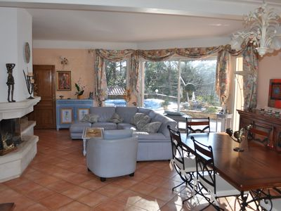 Photo for Villa 180m² heated pool secure conditioned room 5mn beach