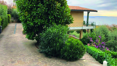 Photo for GARDA LAKE LANDSCAPE - Apartment in Villa with Garden and Private Pool
