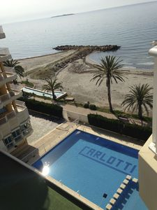 Photo for FIRST LINE OF BEACH, WITH SWIMMING POOL. Santa Pola del Este. Loft nice price