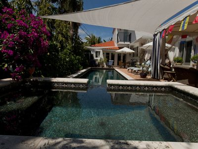 Photo for Private, Luxuriou2-Story VRBO. Your own 40' Pool/Jacuzzi/Open Bar/Garden/Tent