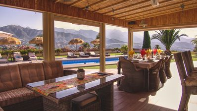 A Lounge/Bar is situated next to the pool