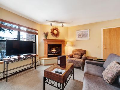 Photo for Condo in downtown Breckenridge with pool & hot tub close to skiing!